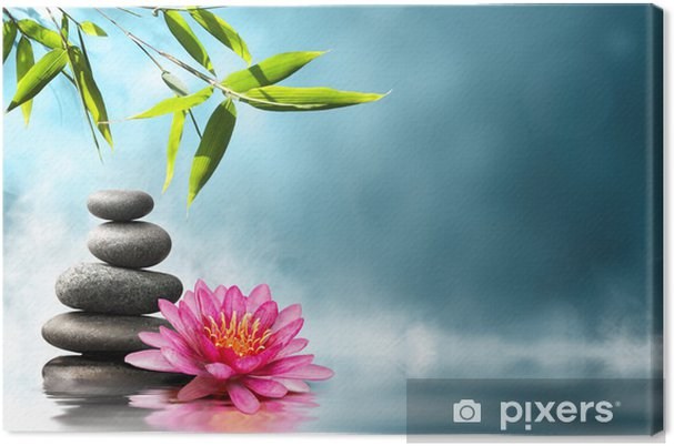 Obraz na płótnie Lilia z kamieniami i bambusa - Style