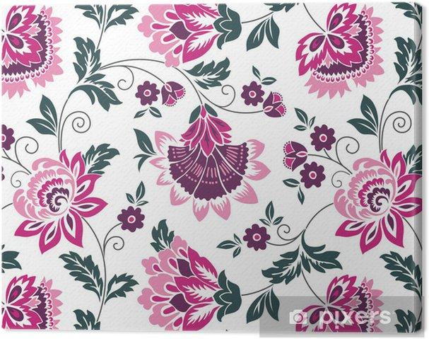 Obraz na płótnie Lilie wodne, kwiatowy wzór, kolorowe projektu włókienniczej, Indie - Tła