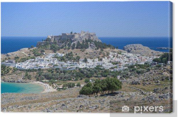 Obraz na płótnie Lindos miasta w Rodos, Grecja - Europa