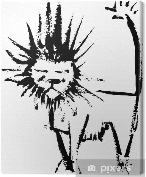 Obraz na płótnie Lion odprysków - Cuda natury