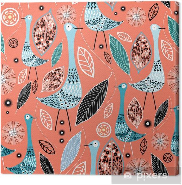 Obraz na płótnie Liście i ptaki tekstury - Tematy