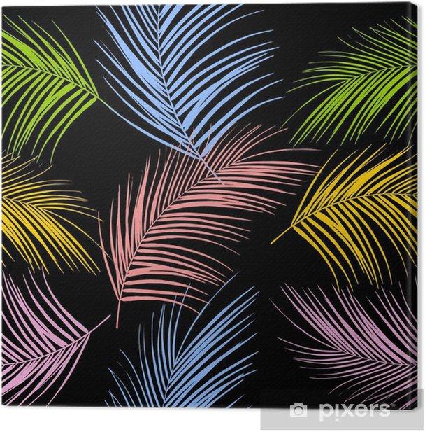 Obraz na płótnie Liście palmy. tropikalne liście. wzór. tło wektor - Zasoby graficzne