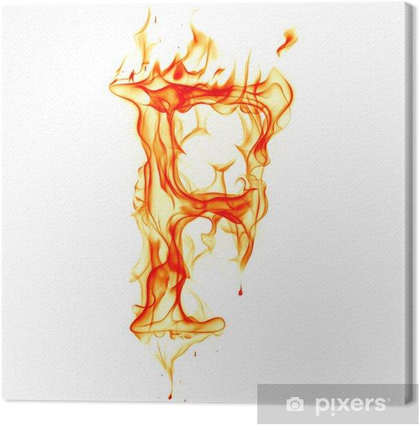 Obraz na płótnie List ognia na białym tle - Tekstury