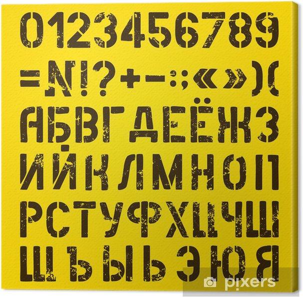 Obraz na płótnie Litery i cyfry malowane szablony. Rosyjski alfabet - Tematy