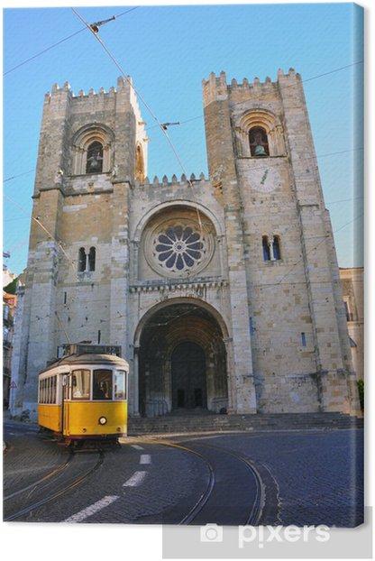 Obraz na płótnie Lizbona tramwaj w Se Cathedral - Miasta europejskie