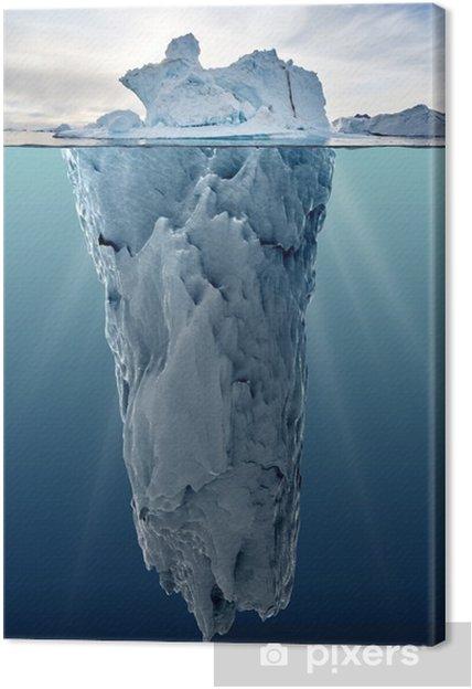 Obraz na płótnie Lodowa z widokiem podwodnego - Krajobrazy