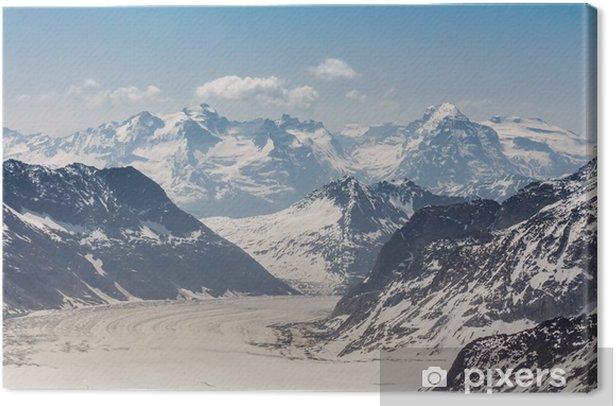 Obraz na płótnie Lodowiec Aletsch w Jungfraujoch, Alpy Szwajcarskie, Szwajcaria - Europa