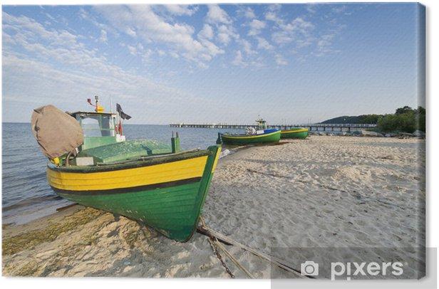 Obraz na płótnie Łódź rybacka na wybrzeżu - Wakacje