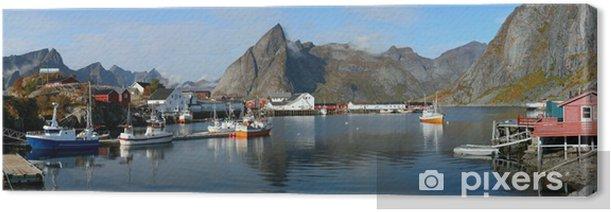 Obraz na płótnie Lofoty Hamnøy Panorama - Europa