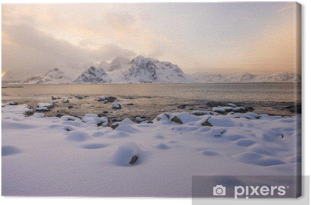 Obraz na płótnie Lofoty plaży - Góry