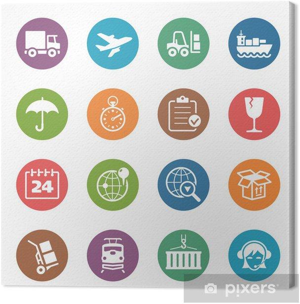 Obraz na płótnie Logistyka Ikony - Dot Series - Przemysł ciężki