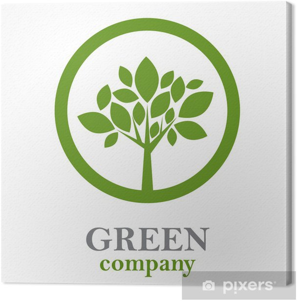 Obraz na płótnie Logo zielone drzewo, firmy leśne # Wektor - Znaki i symbole