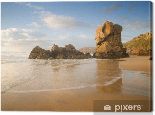 Obraz na płótnie Lumeboo plaży w Galicji w słoneczny dzień - Woda