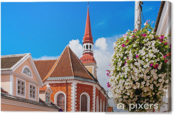Obraz na płótnie Luterański Kościół św Elżbiety w Parnu, Estonia - Europa