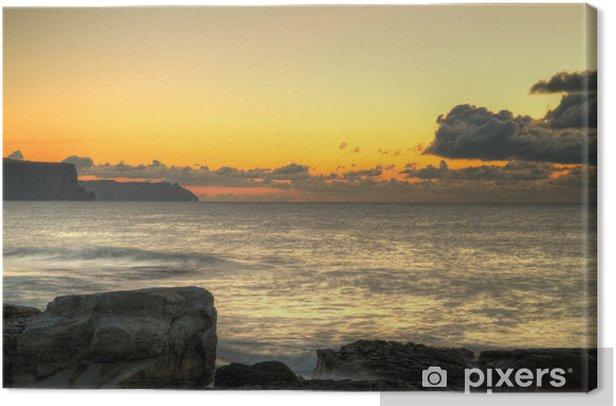 Obraz na płótnie Magiczny zachód słońca nad Atlantykiem - Niebo