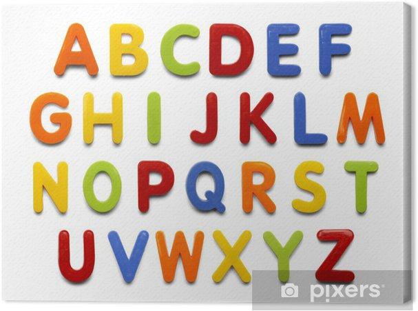 Obraz na płótnie Magnes alfabet - Tematy