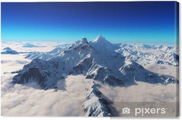 Obraz na płótnie Majestatyczne ośnieżone góry w tle - Niebo