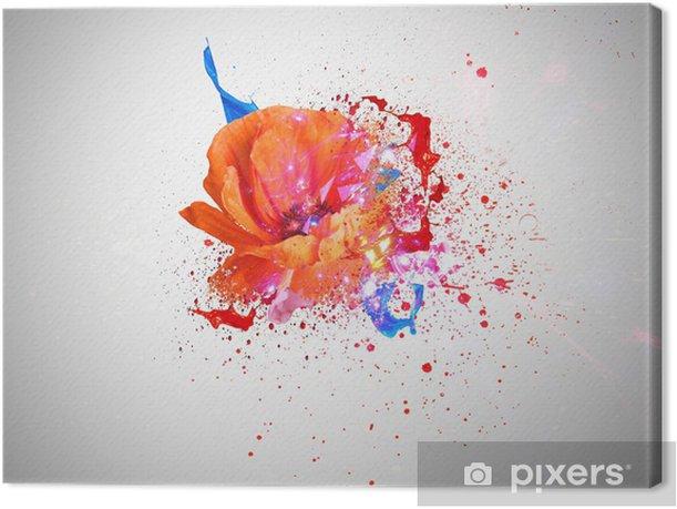 Obraz na płótnie Mak i kolory fantazja - Kwiaty