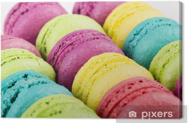 Obraz na płótnie Makaroniki - Słodycze i desery