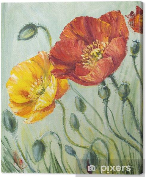 Obraz na płótnie Maki, obraz olejny na płótnie - Kwiaty