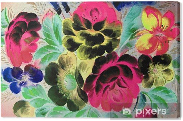 Obraz na płótnie Malarstwo olejne, styl impresjonistyczny, malowanie faktur, kwiat martwa natura obraz malowany kolorem, - Zasoby graficzne