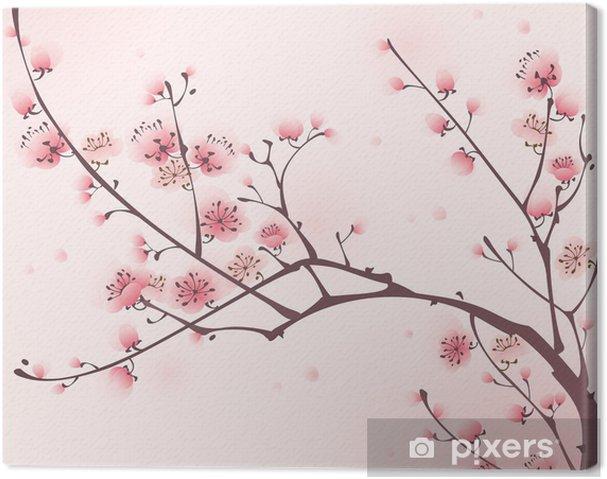 Obraz na płótnie Malarstwo styl orientalny, kwiat wiśni wiosną - Style