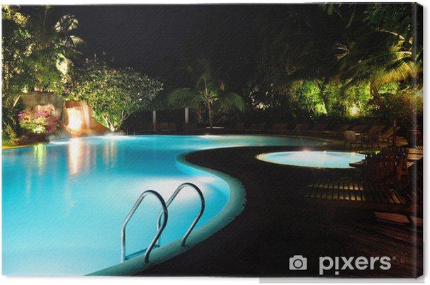 Obraz na płótnie Malediwy - Basen w nocy - Wakacje