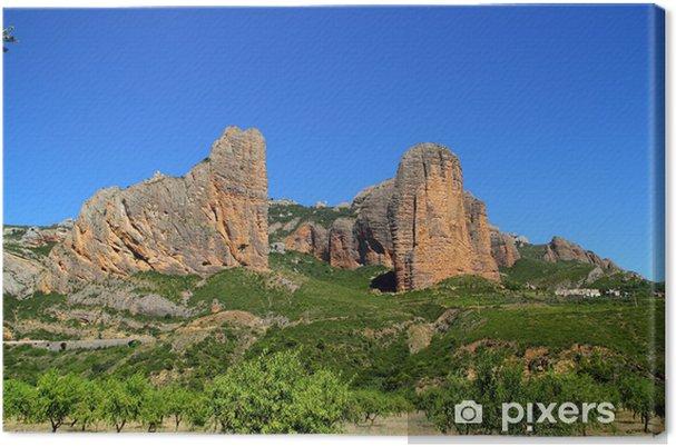 Obraz na płótnie Mallos Riglos ikona kształt góry w Huesca - Europa