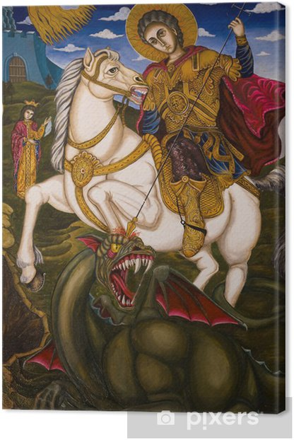 Obraz na płótnie Malowidła ikona wnętrza klasztoru - St George - Tematy