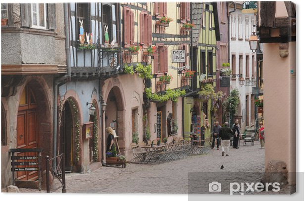 Obraz na płótnie Malownicza wioska Riquewihr w Alzacji - Wakacje