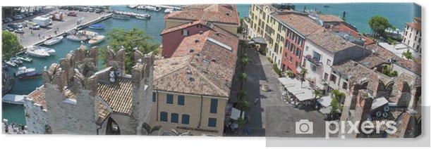 Obraz na płótnie Malownicze Jezioro Garda - Sirmione, Włochy - Europa