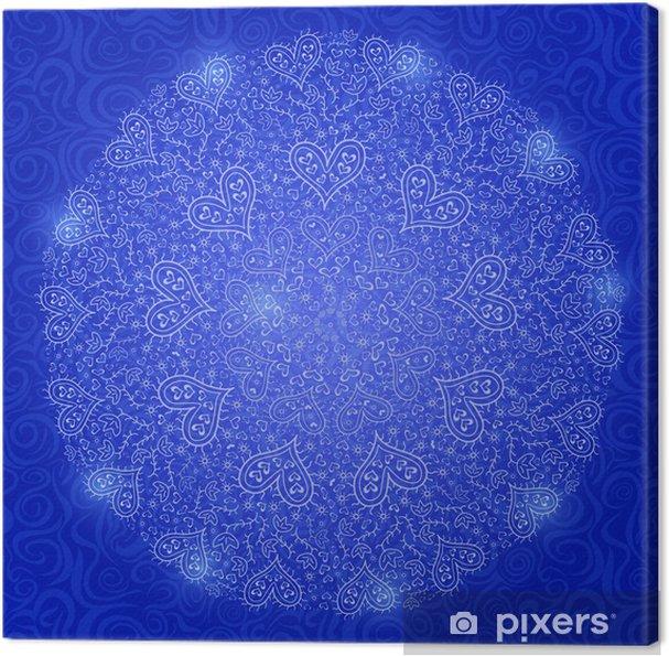 Obraz na płótnie Mandala Dekoracja z serca - Szczęście