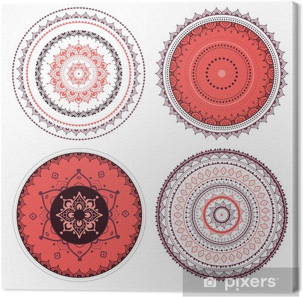 Obraz na płótnie Mandala zestaw - Tła