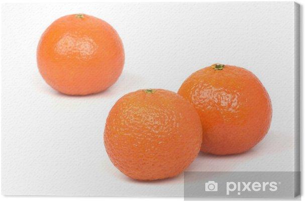 Obraz na płótnie Mandarynki na białym tle - Owoce