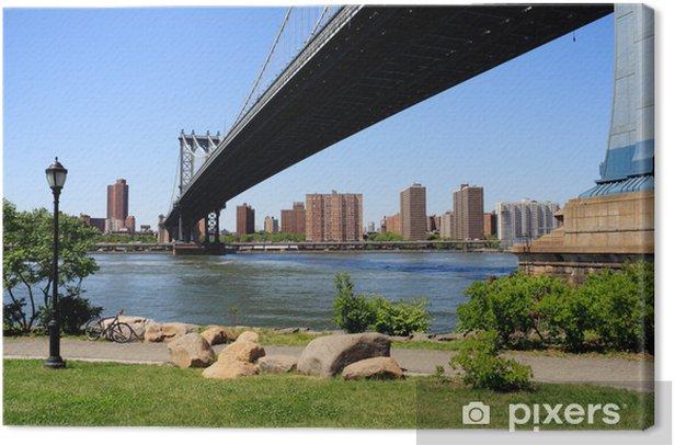 Obraz na płótnie Manhattan Bridge perspektywa - Miasta amerykańskie