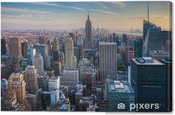 Obraz na płótnie Manhattan skyline o zmierzchu - Miasta amerykańskie