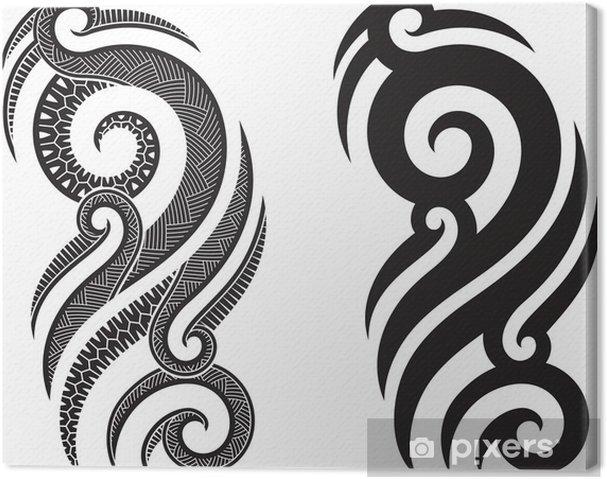 Obraz Na Płótnie Maori Tatuaż Wzór