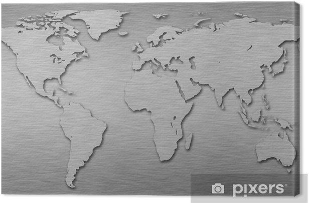 Obraz na płótnie Mapa świata - Przestrzeń kosmiczna
