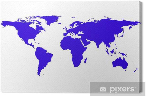 Obraz na płótnie Mapa świata - Akcesoria