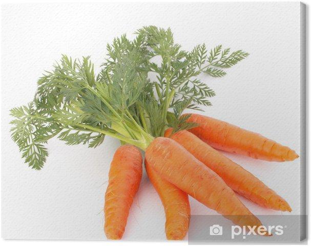 Obraz na płótnie Marchew z liści warzyw - Posiłki