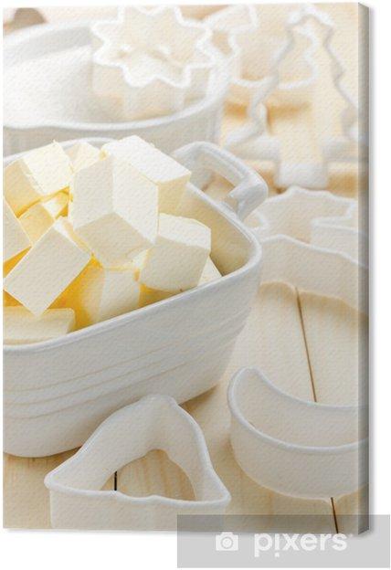 Obraz na płótnie Margaryna - Mleko