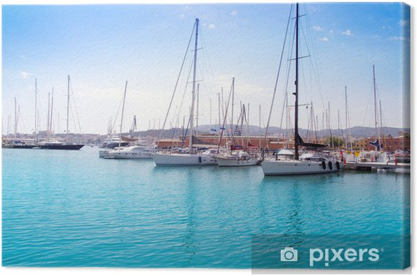 Obraz na płótnie Marina port w Palma de Mallorca na Balearach - Wakacje