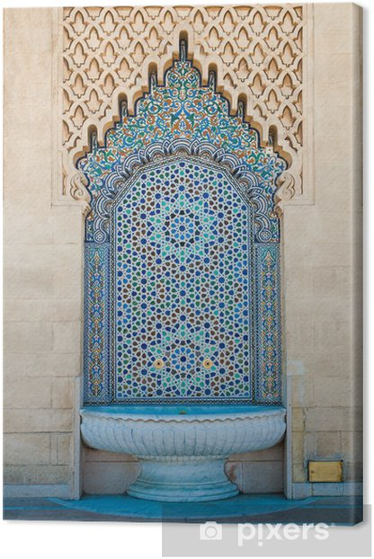 Obraz na płótnie Maroccan kafelki fontanna - iStaging