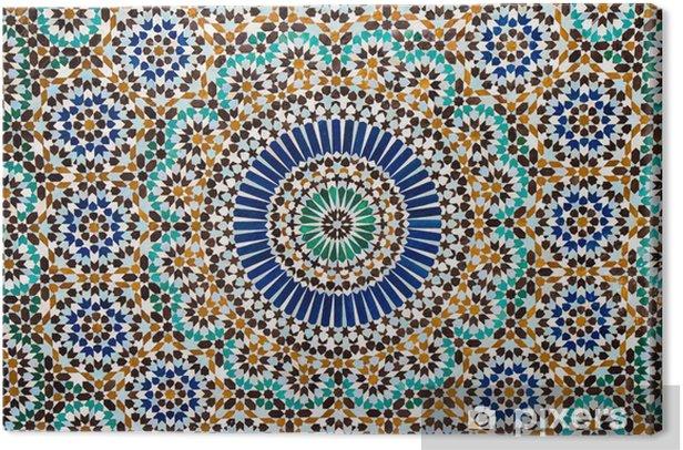 Obraz na płótnie Marokański rocznika tło płytek - Mozaika