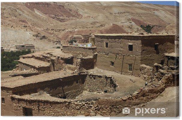 Obraz na płótnie Maroko, mała wioska na pustyni - Afryka
