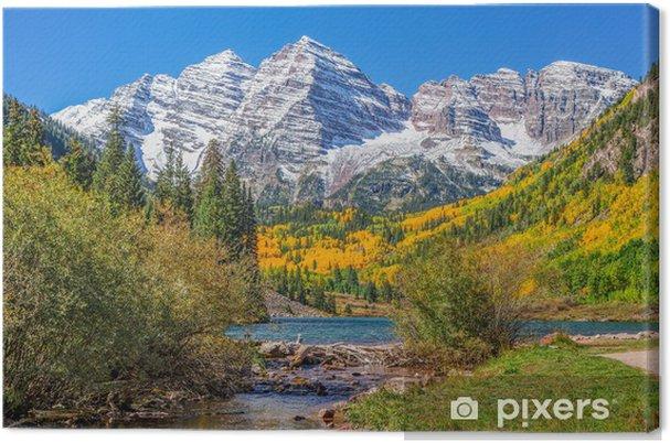 Obraz na płótnie Maroon Bells in Fall - Natura i dzicz