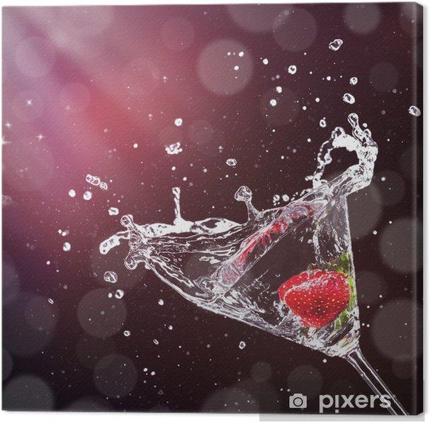 Obraz na płótnie Martini napój rozpryskiwania ze szkła -