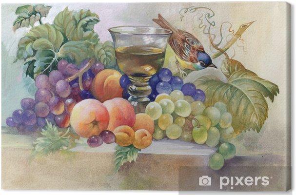Obraz na płótnie Martwa natura z kieliszkiem wina - Sztuka i twórczość