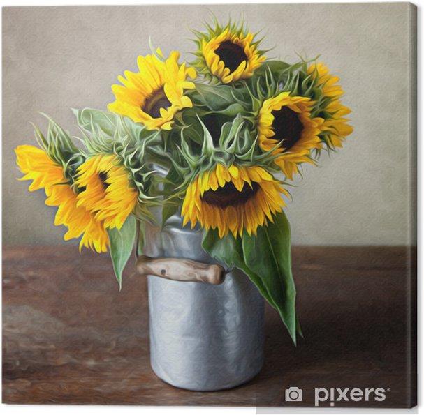 Obraz na płótnie Martwa natura ze słonecznikami - Style