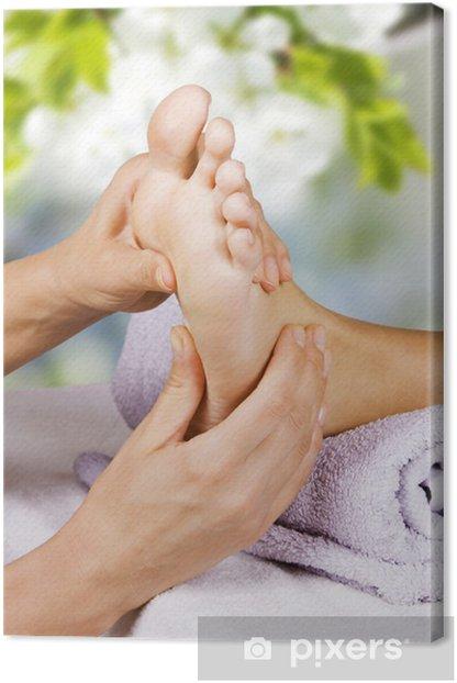 Obraz na płótnie Masaż stóp w salonie spa - Uroda i pielęgnacja ciała